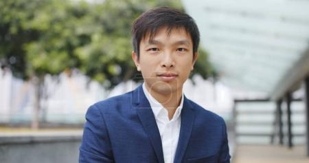 Photo for Asian Businessman smiling to camera - Royalty Free Image