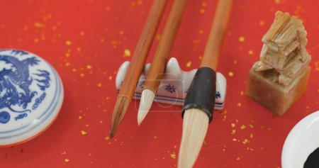 Writing Chinese calligraphy working tools