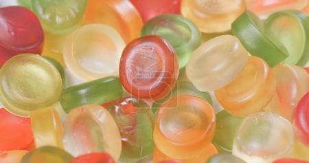 Colorful gummy candies close up