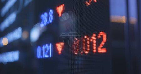 Stock market display close up