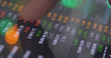 Stock market data graph
