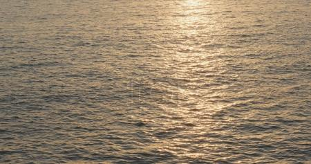 Sea surface and sunset view