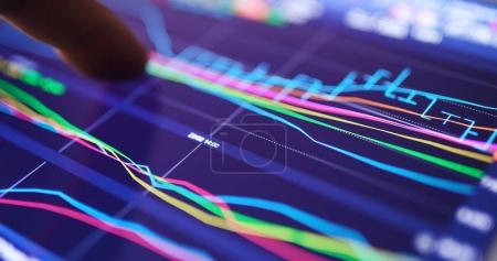 Photo for Stock market showing on digital tablet computer - Royalty Free Image