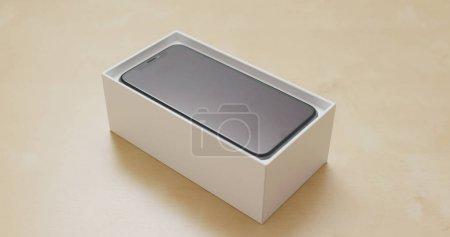 Hong Kong, Hong Kong - 01 March 2018: Open the box of iphoneX