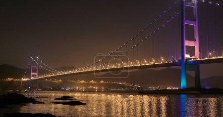 Ma wan, Hong Kong - 02 April, 2018: Tsing ma bridge