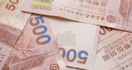 Group of HK dollar banknotes