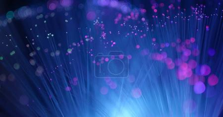 Optical fiber light background...