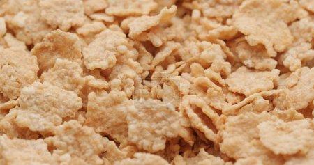Heap of corn flakes close up