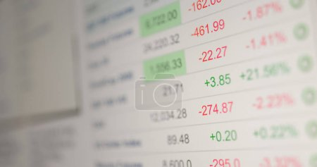 Photo for Stock market data information on screen - Royalty Free Image