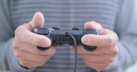 Photo for Man play video game - Royalty Free Image