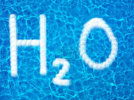 H2O sign over water