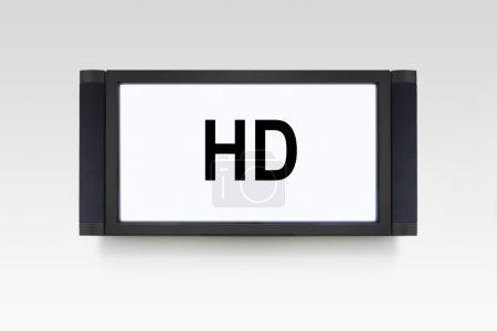 Photo pour Signe haute définition sur l'écran de télévision - image libre de droit