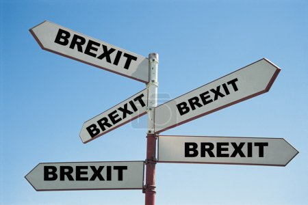 Signpost with Brexit text