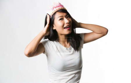 Chinese woman with princess crown