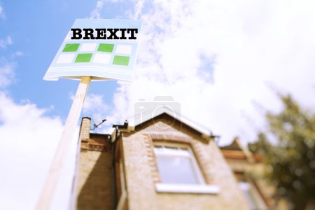House with brexit sign
