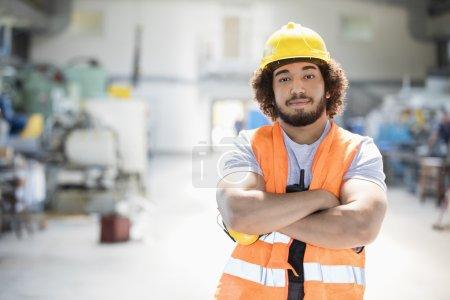 Manual worker in metal industry