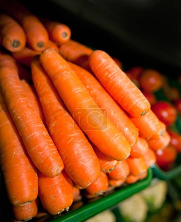Photo for Close-up of fresh carrots in supermarket - Royalty Free Image