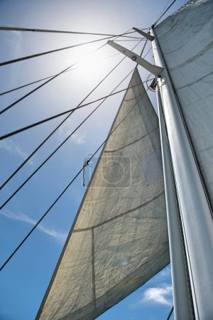 Yacht sails and mast