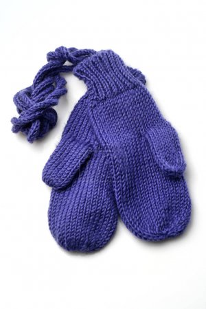 Photo for Blue baby gloves on white background - Royalty Free Image
