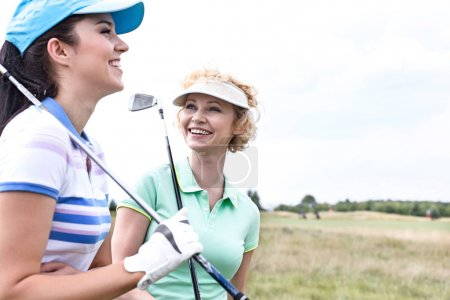 female friends at golf course