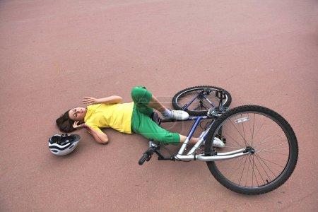Woman injured during riding a bike