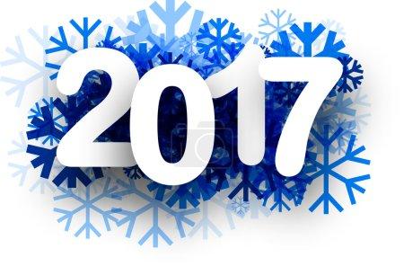 2017 New Year winter background.