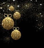 """Постер, картина, фотообои """"Новогодний фон с елочные шары"""""""