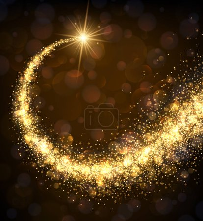 Vector illustration design of magic golden swirl o...
