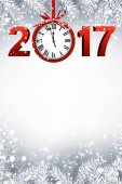 Vector illustration design of Happy 2017 New Year sign
