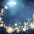 Blue shining background with yellow stars. Vector ...