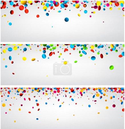 Illustration pour Modèle de forme circulaire confettis, illustration vectorielle - image libre de droit
