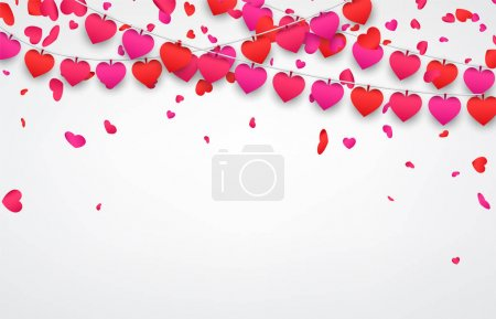 valentines day template with hearts