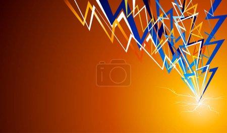 Orange abstract flash background.