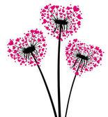 Valentine's background with love dandelion