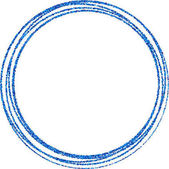 Abstract blue round frame on white background Vector paper illustration