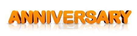 Illustration for Orange anniversary 3d banner. Vector holiday illustration. - Royalty Free Image