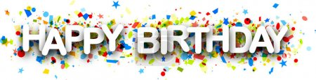 Bannière joyeux anniversaire avec confettis