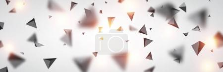 Abstract gray trigons
