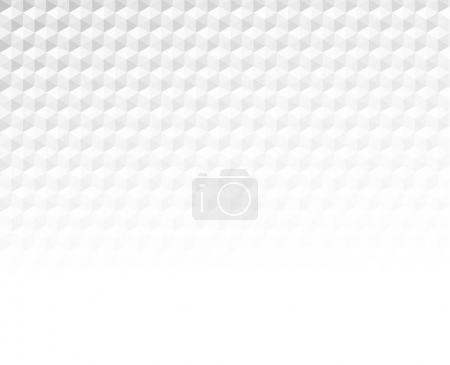 Illustration pour Papier blanc hexagones texturé bannière floue - image libre de droit