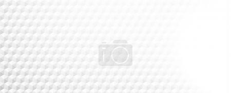 Illustration for White paper hexagons textured blurred banner - Royalty Free Image