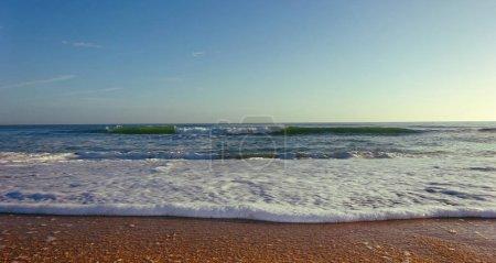 Wet Sand Beach Close Up