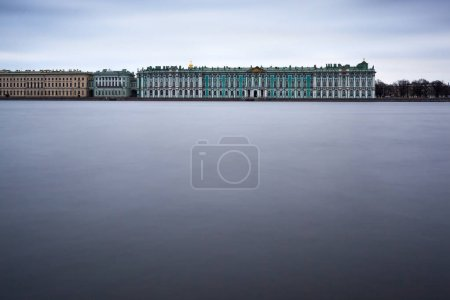 Saint-Petersburg, Russia, April 10, 2017: Winter Palace from Nev
