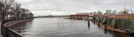 Saint-Petersburg, Russia, April 10, 2017: Restoration work of th