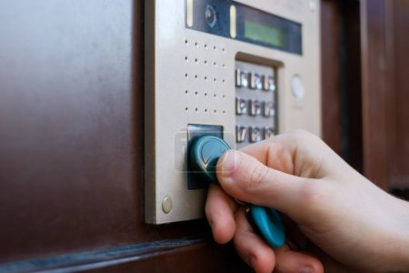 Doorphone as a means of security against robbery.