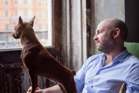 DFriendship between a dog and a man