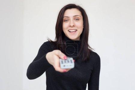Girl changes TV program