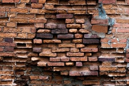 Photo for Background of old vintage red brick wall - Royalty Free Image