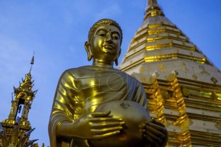 Wat Phra That Doi Suthep is mountain temple in Chiang Mai, Thailand.