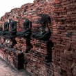Ancient buddha statue were destroyed during the wa...