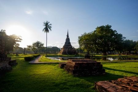 Wat Mahathat temple ruins in the Sukhotai Historical Park, Thailand